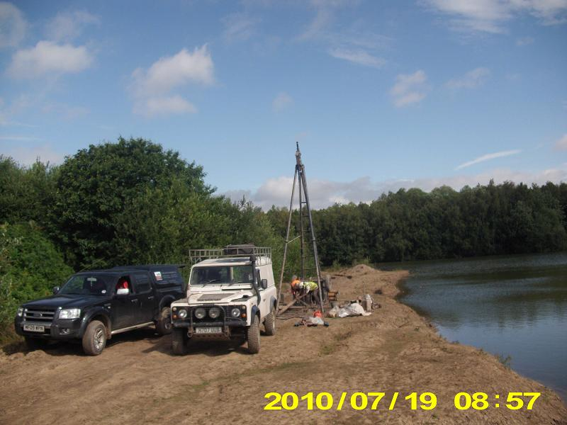 Quarry borehole ground investigation Doncaster